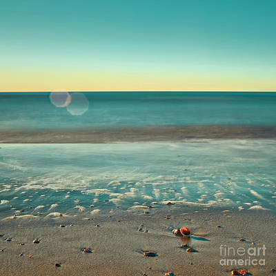 Pop Art Rights Managed Images - Quiet Beach Royalty-Free Image by Patrick M Lynch