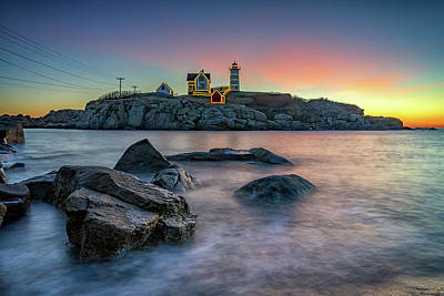 Photograph - Quiet December Morning At The Nubble by Rick Berk