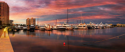 Photograph - Quiet Evening On The Marina by Debra and Dave Vanderlaan