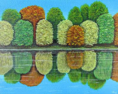 Moody Trees - Quiet Reflection by Tammy Oliver