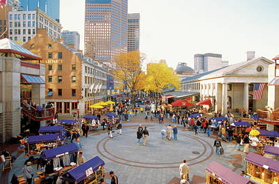Photograph - Quincy Market In Boston, Massachusetts by Medioimages/photodisc