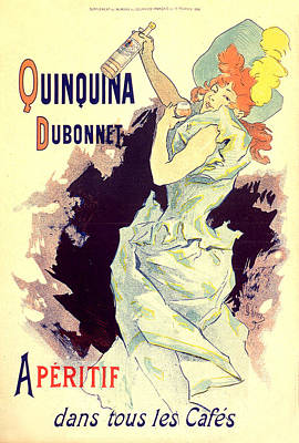 Painting - Quinquina Dubonnet 1896 Vintage French Advertising by Vintage French Advertising