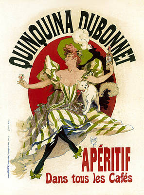 Painting - Quinquina Dubonnet Aperitif Vintage French Advertising by Vintage French Advertising