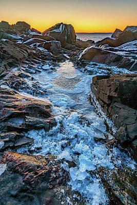 Photograph - Quoddy Head Ice by Rick Berk