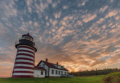 Travel Rights Managed Images - Quoddy Lighthouse Sunset Royalty-Free Image by Hershey Art Images