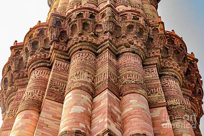 Photograph - Qutub Minar Inscriptions 04 by Werner Padarin
