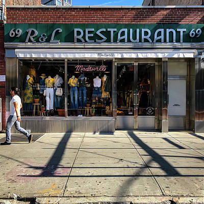 Photograph - R And L Restaurant by Michael Gerbino