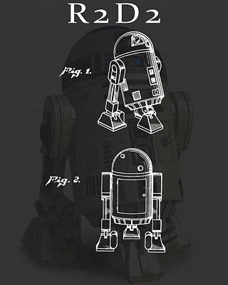 Science Fiction Drawings - R2D2 Patent by Dan Sproul
