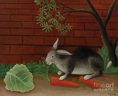 Painting - Rabbit, 1908 by Henri Rousseau