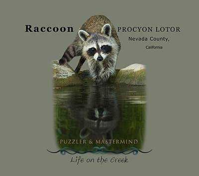 Digital Art - Raccoon Puzzler And Mastermind by Lisa Redfern