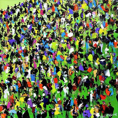 Wall Art - Painting - Race Meeting II by Neil McBride