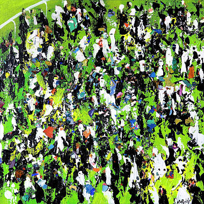 Wall Art - Painting - Race Meeting by Neil McBride