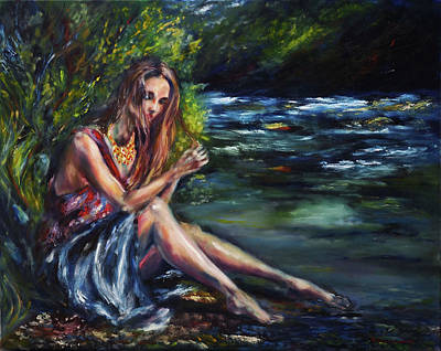 Painting - Rachelle's thought by Ruslana Levandovska