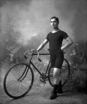 Photograph - Racing Cyclist by Reinhold Thiele