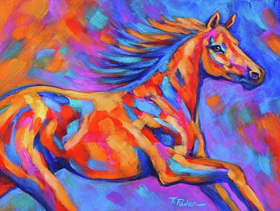 Wall Art - Painting - Racing The Wind by Theresa Paden