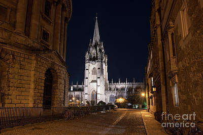 Photograph - Radcliffe Square Oxford At Night by Tim Gainey