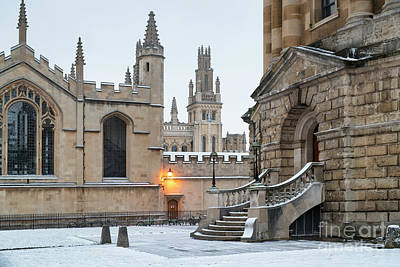 Photograph - Radcliffe Square Oxford In The Snow by Tim Gainey