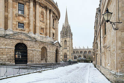 Photograph - Radcliffe Square Oxford In Winter by Tim Gainey