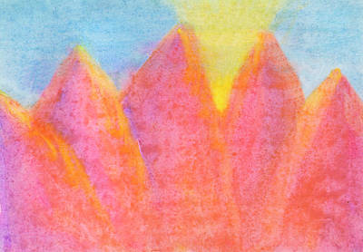 Painting - Radiance Mountain Abstract by Dobrotsvet Art