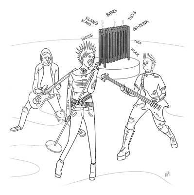 Drawing - Radiator Band by Lila Ash
