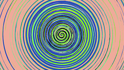 Digital Art - Radical Spiral 19022 by REVAD David Riley