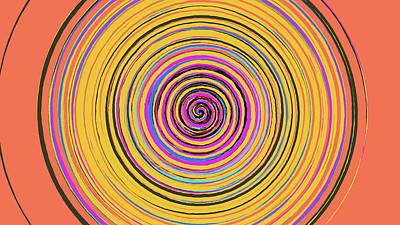 Mixed Media - Radical Spiral 19023 by REVAD David Riley