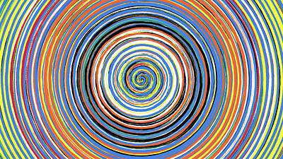 Digital Art - Radical Spiral 19033 by REVAD David Riley