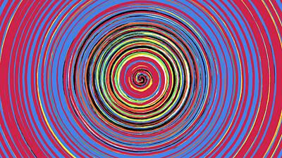 Digital Art - Radical Spiral 19041 by REVAD David Riley