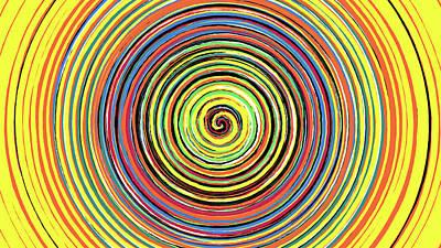 Digital Art - Radical Spiral 19042 by REVAD David Riley