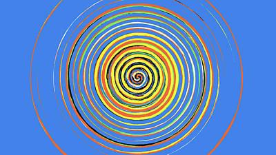 Digital Art - Radical Spiral 19043 by REVAD David Riley