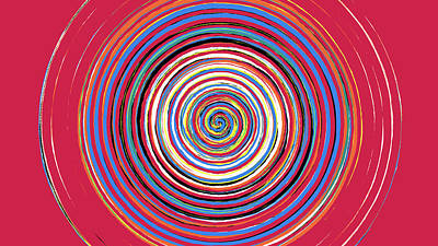 Digital Art - Radical Spiral 19044 by REVAD David Riley