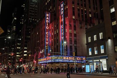 Photograph - Radio City Music Hall At Night by Doug Ash