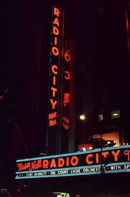 Photograph - Radio City Music Hall New York 1998 by Martyn Goodacre