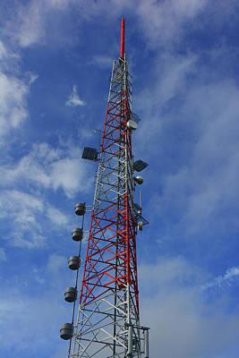 Art Print featuring the photograph Radio Tower On Mount Greylock by Raymond Salani III
