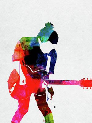 Rock Band Wall Art - Digital Art - Radiohead Watercolor by Naxart Studio