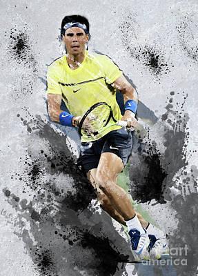 Digital Art - Rafael Nadal by Ed Taylor