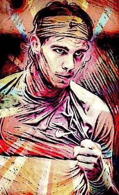 Digital Art - Rafael Nadal by Jayime Jean