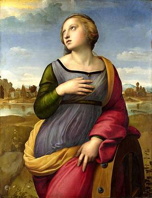 Outerspace Patenets - RAFFAELLO Sanzio - St Catherine of Alexandria by European Paintings