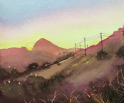 Roaring Red - Reagan Ranch - Dusk by Luisa Millicent
