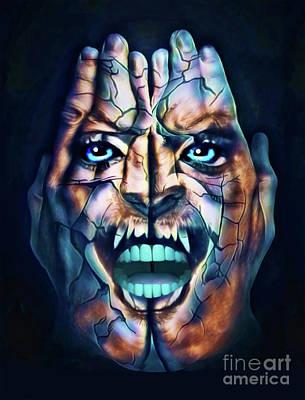 Digital Art - Rage by Kathy Kelly