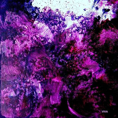 Painting - Rage -  Purple Thunder by VIVA Anderson
