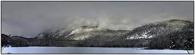 Photograph - Ragged Mountain In Clouds by John Meader