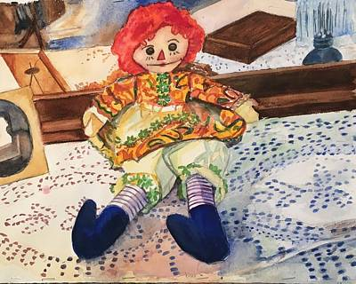 Painting - Raggedy Annie by Lynne Atwood