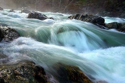 Photograph - Raging River by Janet Kopper