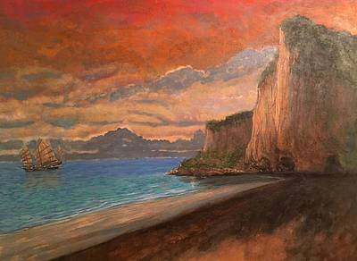 Painting - Railay Beach, Krabi Thailand by Tom Roderick