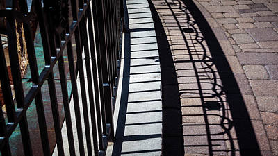 Photograph - Railing Shadow by Jeanette Fellows