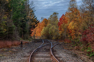 Photograph - Railroad Journey Through The Fall Colors by Jeff Folger