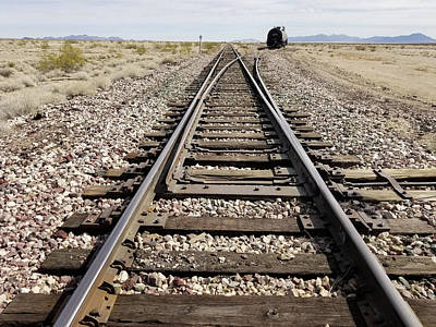 Railroad Mainline Arizona And California Railroad In The California Desert Art Print