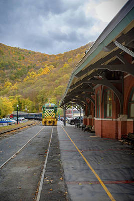 Photograph - Railroad Station by Jack R Perry