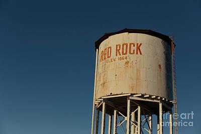 Photograph - Railroad Water Tower Red Rock Arizona by Edward Fielding